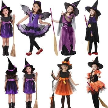 halloween costume for kids baby girls children vampire witch costume girl cosplay Carnival Party princess fancy dress fantasia