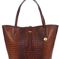 Brahmin Melbourne Collection Croco-Embossed All Day Baby Bag