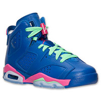 Girls' Grade School Air Jordan Retro 6 Basketball Shoes