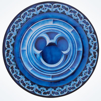 Disney Parks Castle with Mickey Icon Dessert Plate New