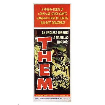 """Them"" MOVIE POSTER Gordon Douglas 1959 24X36 VINTAGE HORROR"