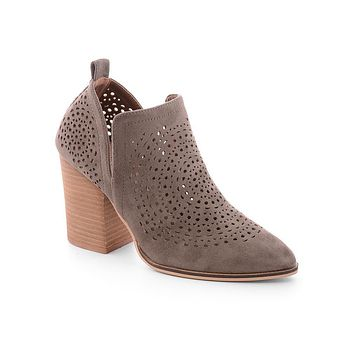 Taupe Pria Ankle Booties