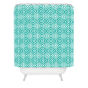 Lisa Argyropoulos Diamonds Are Forever Aquatic Shower Curtain