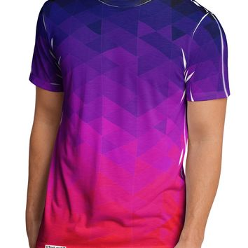 Geometric Gradient AOP Men's Sub Tee Dual Sided All Over Print T-Shirt by TooLoud