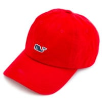 Vineyard Vines Signature Whale Logo Baseball Hat- Lighthouse Red