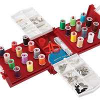 Smartek Compact Foldaway Sewing Box Kit RX-24C,Over 100 piece Set Fits All Brother, Singer Sewing Machines