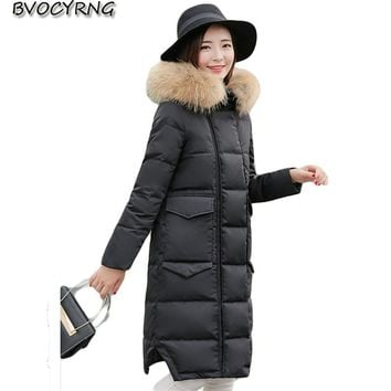 2017Winter New Long Down jacket Coat Women Winter Jackets Hooded Thickening Jacket High Quality Duck Down Female Slim Parka Q821
