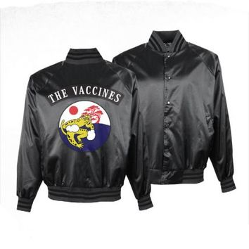 The Vaccines (Japanese) Mens Black Varsity Jacket at firebrandstores.com