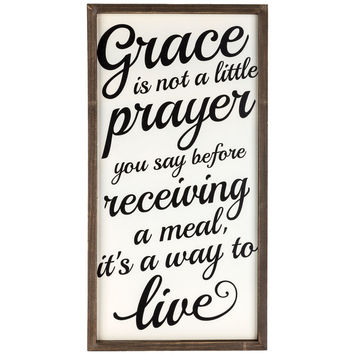 Grace is Not a Little Prayer Wall Sign | Hobby Lobby | 106385