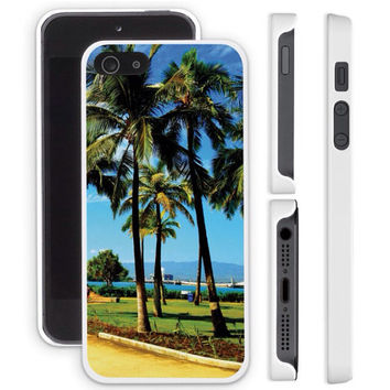 iPhone 4 case, iPhone 4S case, iPhone 5 case, iPhone 5S case - Sunny Palm Trees