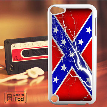 Confederate Rebel Flag Thunder iPod Touch 4 5 6 Case Cover