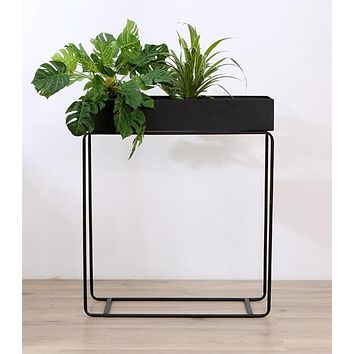 Modern Loft Metal Plant Shelf/ Stand/ Minimalist Modern Side Storage Table