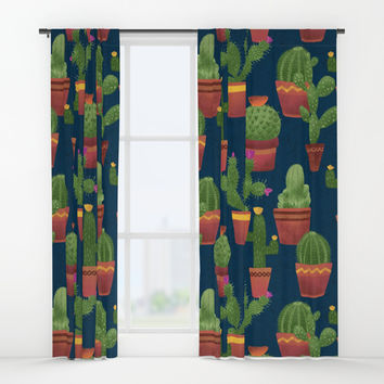 Terra Cotta Cacti Window Curtains by Noonday Design