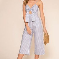 Beach House Blues Culotte Jumpsuit