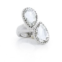 Plus Size Double Teardrop Stretch Ring | Fashion To Figure