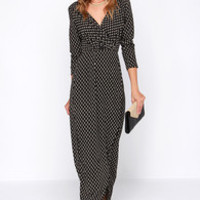 LULUS Exclusive Fluent in Stroll Black Wrap Maxi Dress