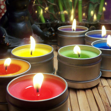 CHAKRA CANDLES SET - Chakra Meditation Tools to Clear Open & Balance Your Chakras