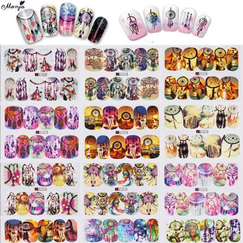 12 Sheets/lot Dream Catcher  Nail Art  Water Transfer Stickers Fantasy Image Full Cover gel polish Decals Tips DIY Decoration