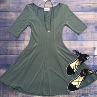 Fit and Flare T-Shirt Dress