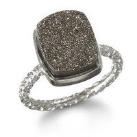Nadia Stackable Druzy Ring, Silver by Dara Ettinger | Charm & Chain
