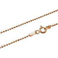 """1.2MM ROSE PINK GOLD ITALIAN SILVER 925 DIAMOND CUT BEAD BALL CHAIN NECKLACE 16"""" 18"""" 20"""""""