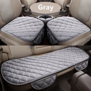 Car Square Style Winter Warm Front Back Seat Cover