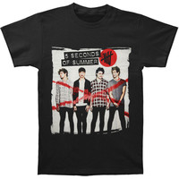 5 Seconds Of Summer Men's  Album Cover T-shirt Black