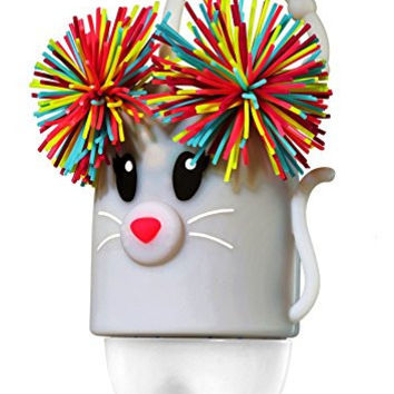 Bath and Body Works - Pom Pom Mouse Light Up Pocketbac Holder - Glow in the Dark LED Light-up - Holds any new round style Bath & Body Works 1.0 fl oz anti-bacterial hand sanitizer pocketbac gel
