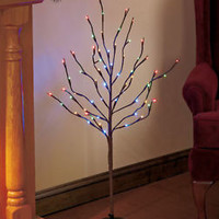 "Indoor/Outdoor Multi Color LED 38"" Lighted Tree Branch W/ Stand Lights Holiday"