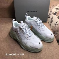 White Balenciaga Triple-S Sneaker Casual Shoes Clunky Sneakers