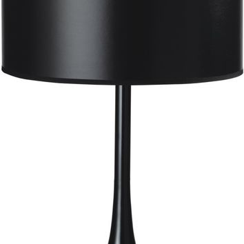 Painted Base With Paper Shade Table Lamp Black