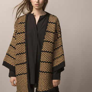 TWO-TONE WOVEN COAT - Coats - WOMEN - United Kingdom