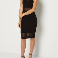 Mesh Illusion Cami Bodycon Dress | Going Out Dresses | rue21