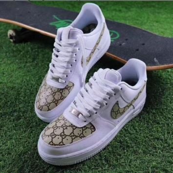 Gucci x NIKE Air Force Fashion Casual Running Sport Sneakers Shoes