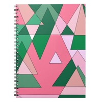 Retro Triangle Abstract Spiral Note Books