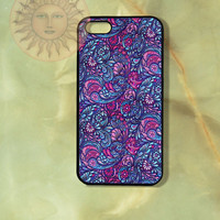 Purple Paisleys iPhone 5, 5s, 5c, 4s, 4, ipod 4, 5, Samsung GS3, GS4 case-Silicone Rubber or Hard Plastic Case, Phone cover