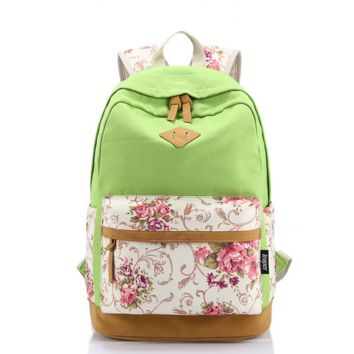 Casual Style Lightweight Canvas Laptop College Backpack Cute Travel School College Shoulder Bag/Bookbags/Daypack