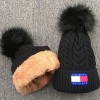 Tommy Hilfiger Knit And Pom Hat Cap-1