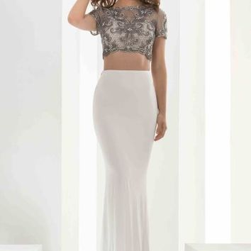 Jasz Couture Sleeved Fitted Dress 5603