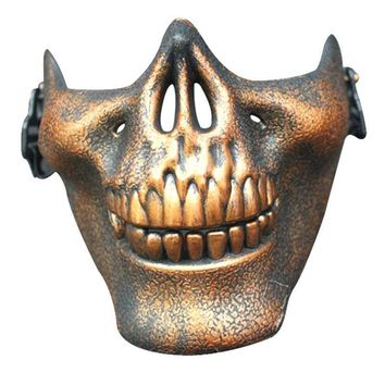 Newest Halloween Costume Halloween Party Airsoft Skull Mask Motorcycle Skeleton Half Face Masks