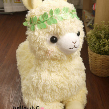 2013 Big Amuse Arpakasso Alpacasso Alpaca Yellow RYAMA Eden Baby/Kid Plush Doll