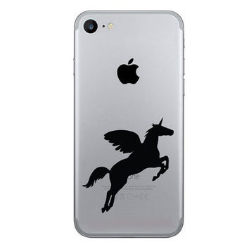 Unicorn iPhone 7 Decals - Pegasus iPhone 6 Plus Stickers - Galaxy s6  Decal -  Pony Fabric Stickers - Samsung galaxy s7 Decal - Gold Decal