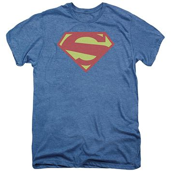 Premium Superman 52 Solid Royal Distress Adult T-Shirt