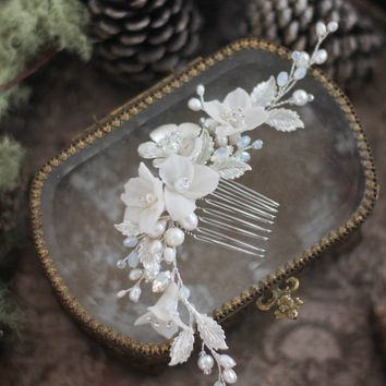 Flower Hair Piece for Bride, Bridesmaid Flower Hair Accessory