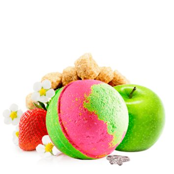 Strawberry Fields | Single Ring Bath Bomb®