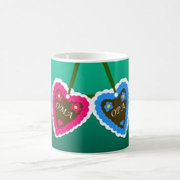 Oma and Opa Gingerbread Hearts ~ Lebkuchenherzen Coffee Mug