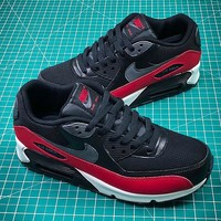 Nike Air Max 90 Black Red Sport Running Shoes - Best Online Sale