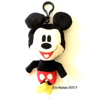 "New Arrive Disney Mickey Mouse 8"" Plush Keychain/Coin Purse"
