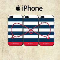 Best Friends Forever iPhone Case - Personalized iPhone 5 Case - iPhone 4 Case - Infinity Anchor iPhone Case - THREE CASE SET