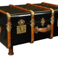One Kings Lane - Vintage-Inspired Accents - Stateroom Trunk, Black
